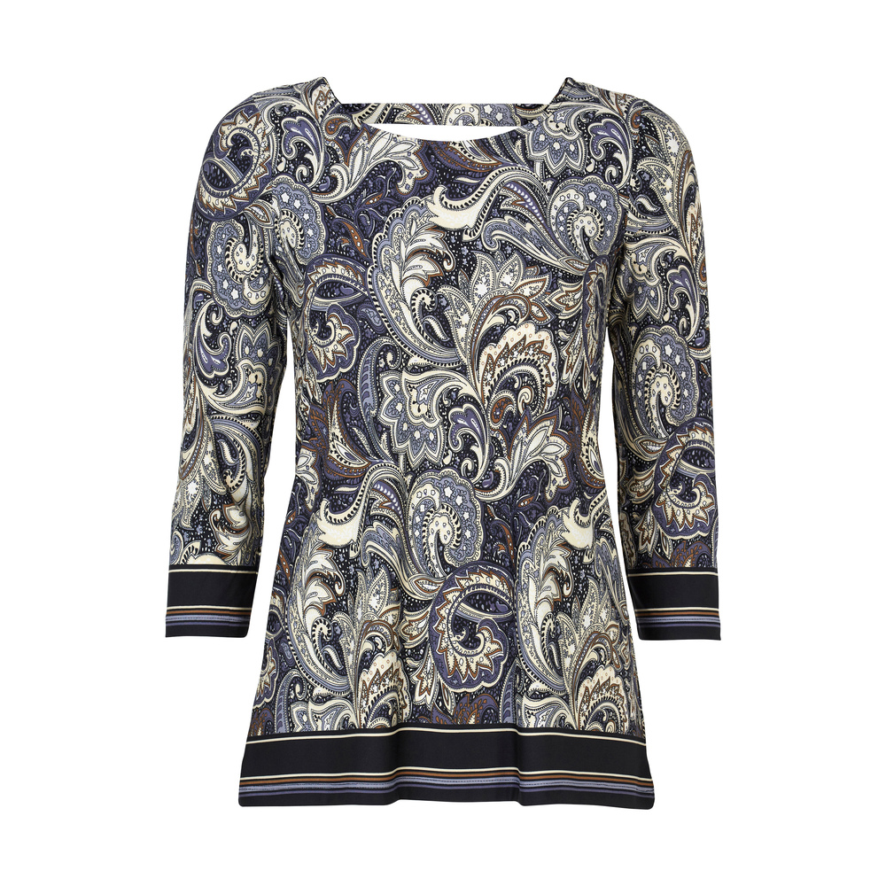 Happy Holly Taylor Top Black/Patterned