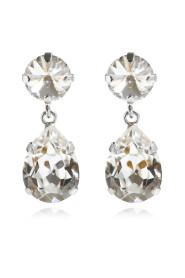 Örhängen Classic Drop Rhodium Crystal