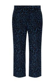 Leopard-printed trousers
