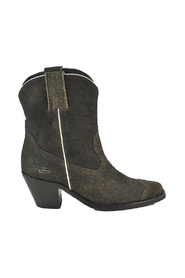 Distressed Leather Cowboy Booties