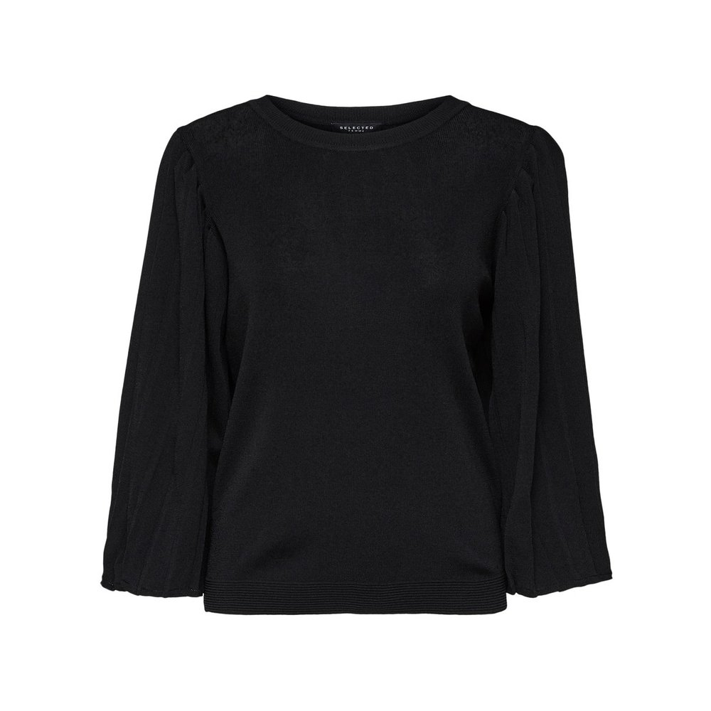 Knitted Pullover Pleated