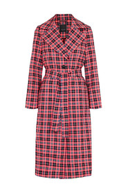 CLARETA BELT CHECK Coat