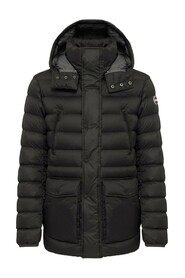 Semi-glossy Down Jacket With Removable Hood