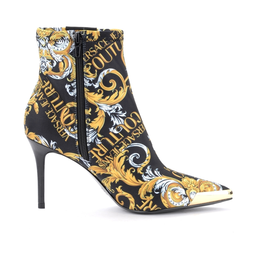 Versace Jeans Couture Multicolour Ankle boot with Baroque logo Versace Jeans Couture