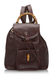 Bamboo Leather Drawstring Backpack