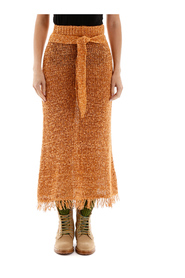 Fringed seda skirt