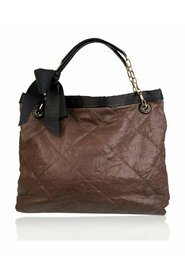 Soft Quilted Leather Large Amalia Tote Shoulder Bag