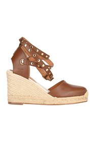 Studded wedged espadrilles