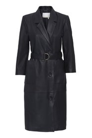 ANNA BLAZER DRESS LEATHER