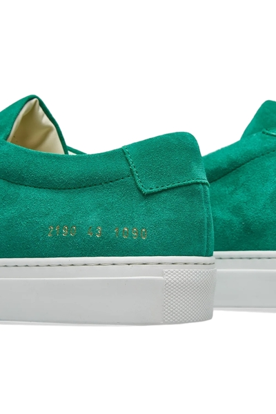 Grønn Achilles Low Suede Sko | Common Projects | Sneakers