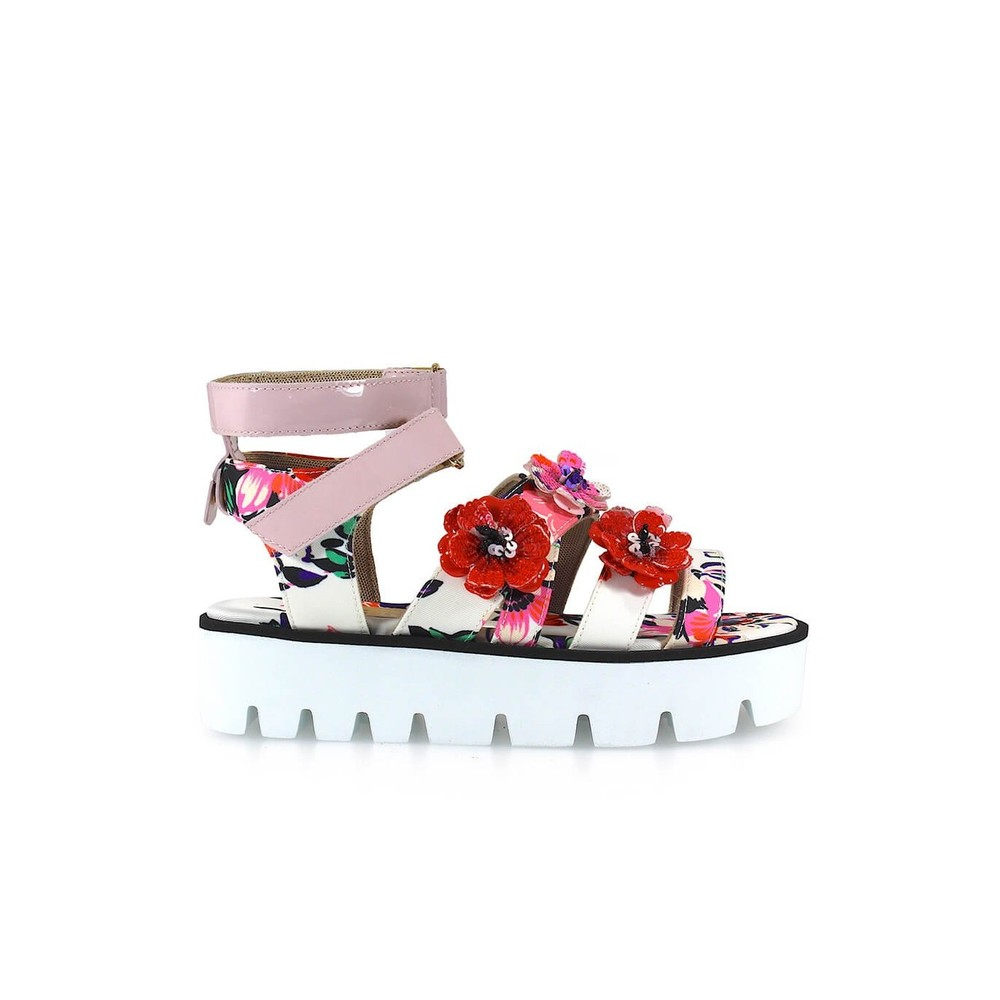 FLOWER AND EMBROIDERY SANDAL