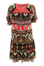 Pre-owned Print Dress Condition Very Good IT40