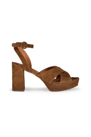 Cross Suede Sandals