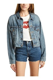 LEVIS 85294 0001 CROP DAD TRUCKER JACKET AND JACKETS Women DENIM MEDIUM BLUE