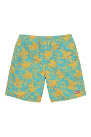 Water Shorts Teal Floral