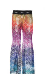 Pleated lace pants