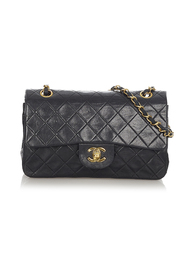 Pre-owned Small CC Timeless Lambskin Leather Double Flap Bag