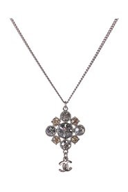 CC Rhinestone Pendant Necklace