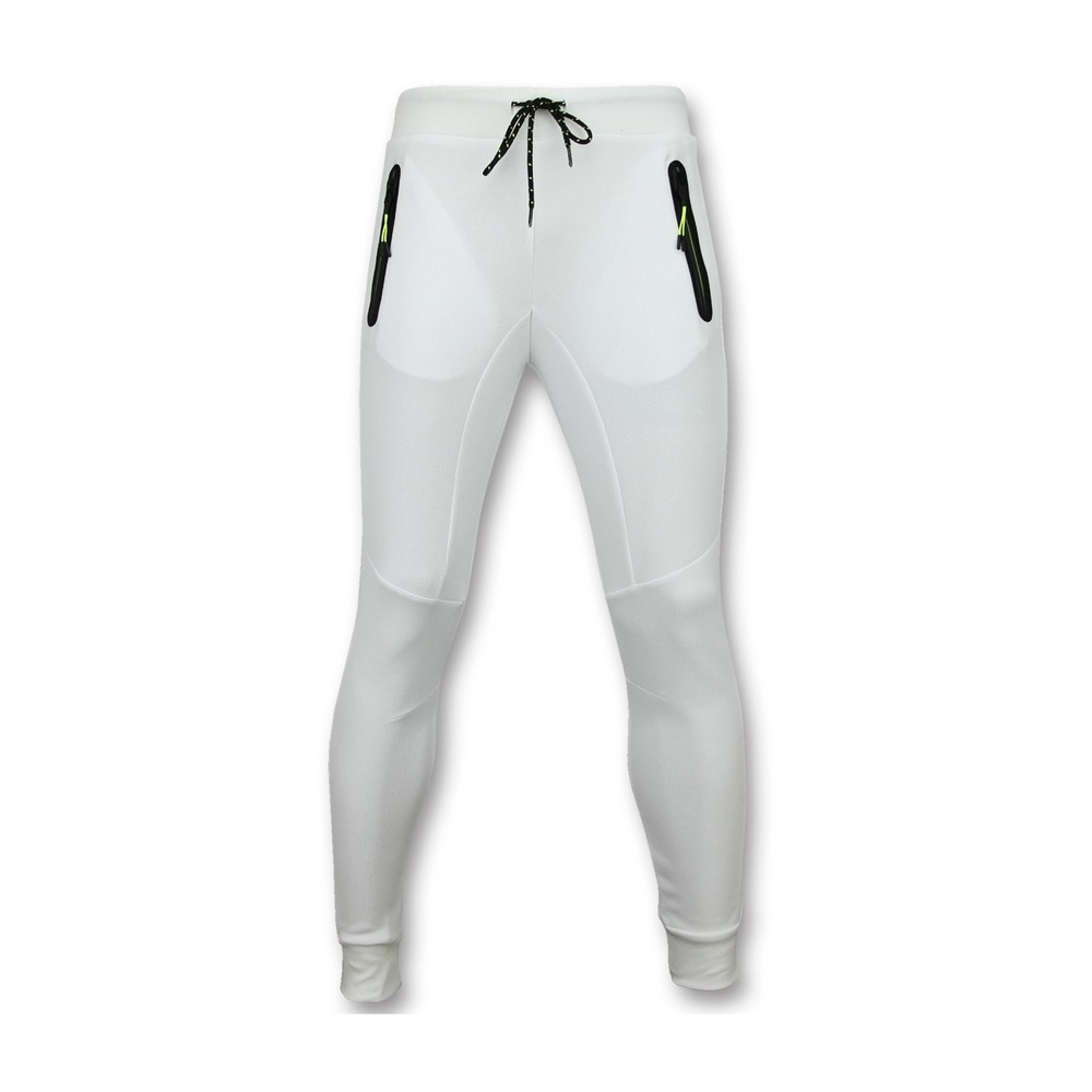 White Sportbroek Mannen Lang Slim fit Joggingbroek Heren
