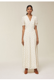 Maxi Dress with puffy Sleeves