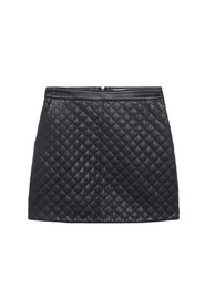 Miniskirt quilted