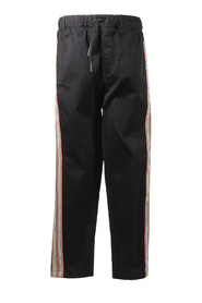 Icon Stripe gabardine casual pants