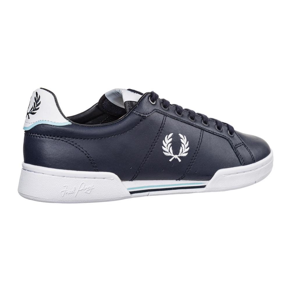 Blue Heren schoenen leather trainers sneakers b722 | Fred Perry | Sneakers | Herenschoenen