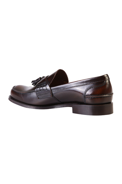 Church's Brown Tiverton Brushed Leather Loafers Instappers & Slip Ons - Bruin gnAFrS9