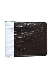 Two Tone Crock Print Leather Wallet