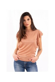 Sleeve T-Shirt With Rouches