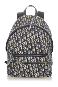 pre-owned Dior Oblique Canvas Backpack Fabric Canvas