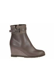 Andrea Catini Taupe Short Boot Wedge Heel