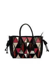 Leather and Suede Medium Penelope Arty Tote