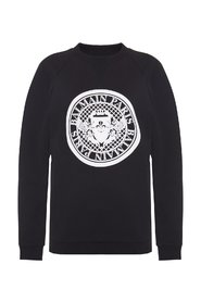 Sweatshirt with velvet logo
