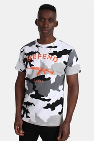 Defend Paris Paris T-shirt Camo Black/White