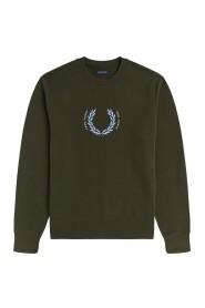 Embroidered Logo Sweatshirt Laurel Wreath
