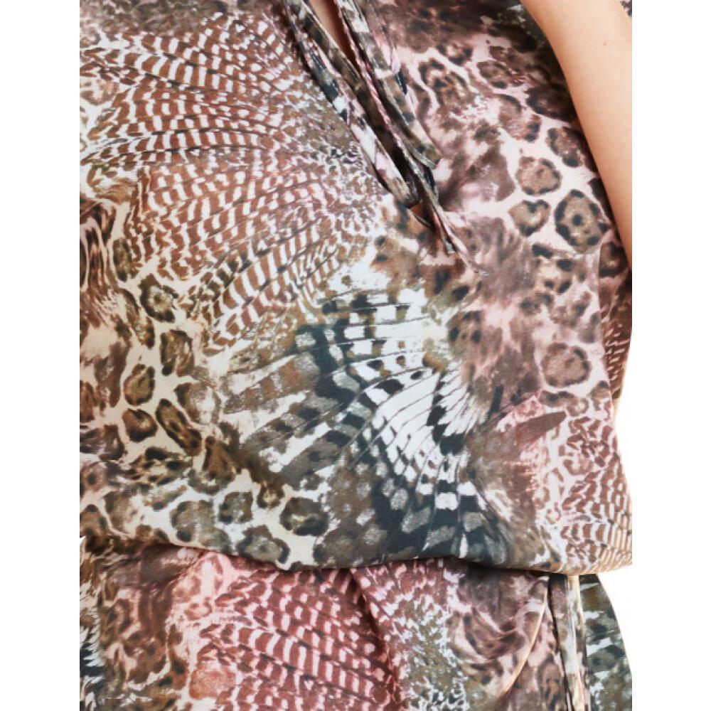 brązowy Bluzka z krótkim rękawem | Awama | Bluzki - Najnowsza zniżka zlCHC