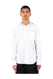 Contrastant hooded shirt