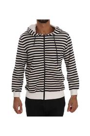 Striped Hooded Cotton Sweater