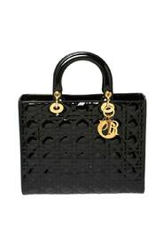 Pre-owned Cannage Patent Leather Lady Dior Tote