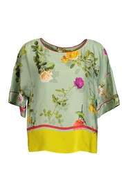 Philips floral satin blouse