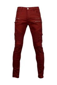 Slim Fit Biker Jeans Side Pocket & Zippers
