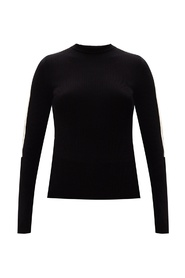 Ribbed top with long sleeves