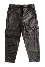 HIGH WAISTED ECO LEATHER PANTS WITH POCKETS
