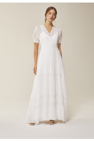 Maxi Bridal Chiffon Dress with V-Neck
