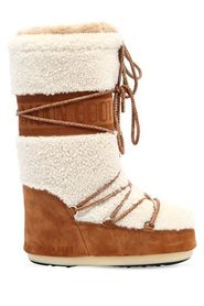 Moon Boot Shearling & Suede Off-White