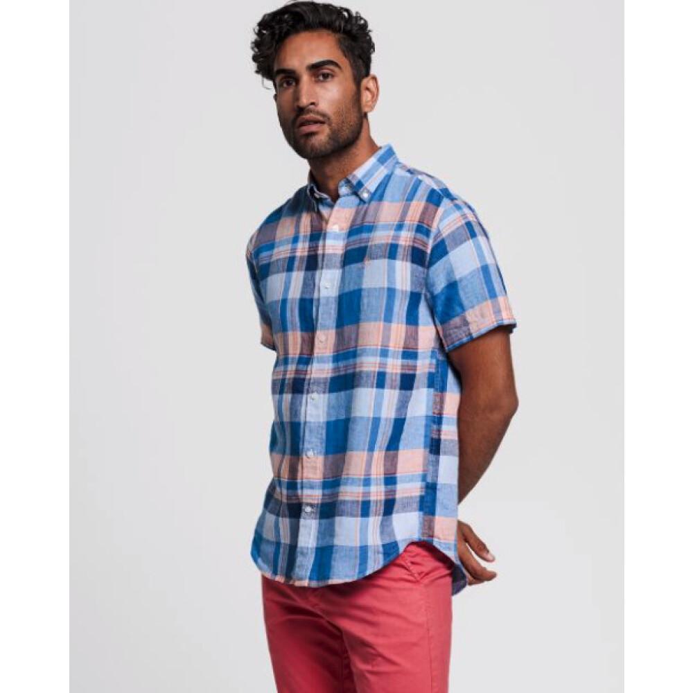 Blue Madras Skjorte  Gant  Langermede skjorter - Herreklær er billig