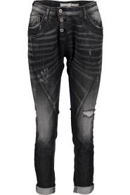 P78 black damaged denim jeans