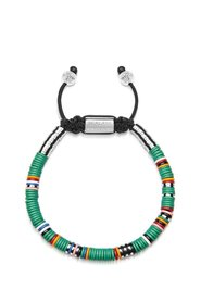 The Tulum Collection -  Beaded Bracelet with Green Disc Beads