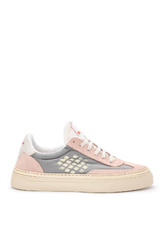Roxy pink and grey suede sneaker